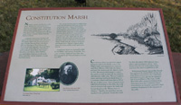 Click to enlarge photo of Constitution Marsh sign